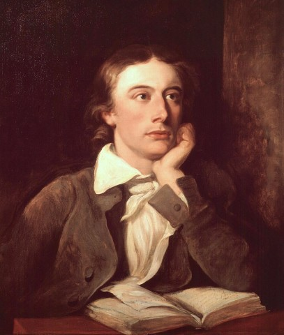 Posthumous portrait of Keats by William Hilton